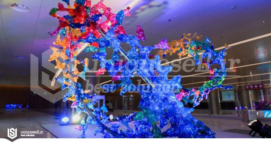 سازه هنری در Chinaplas2021