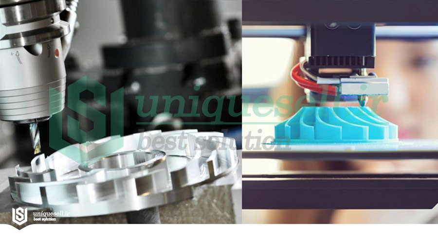 ترکیب چاپ سه بعدی (3D) و ماشینکاری سی ان سی (CNC)